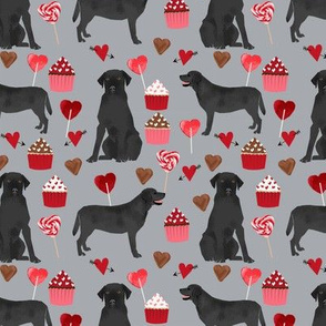 black labrador dog valentines fabric cute love dogs fabric