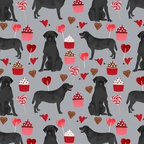 black labrador dog valentines fabric cute love dogs fabric