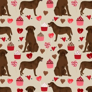 chocolate labrador dog valentines fabric cute love dogs fabric