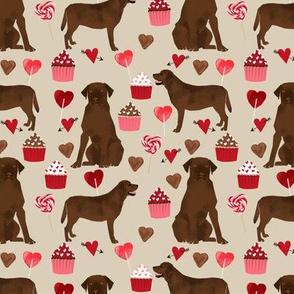 chocolate labrador dog valentines fabric cute love dogs fabric
