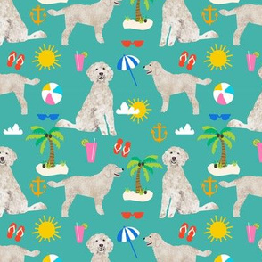 golden doodle dog beach summer fabric doodle fabric
