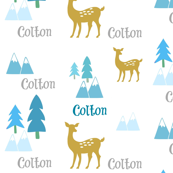 Meadow Deer -blue multi-personalized COLTON
