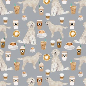 golden doodle fabric coffee fabric latte design doodle fabric
