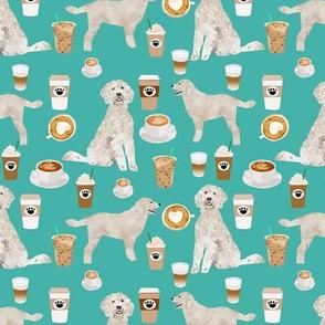 golden doodle fabric coffee fabric latte design doodle fabric