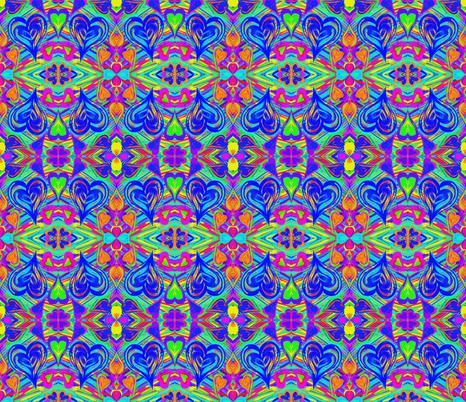 Loving the Flowing Colour - Medium Scale fabric by rhondadesigns on Spoonflower - custom fabric