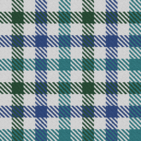 Tricolor Gingham Green Blue Teal fabric by eclectic_house on Spoonflower - custom fabric