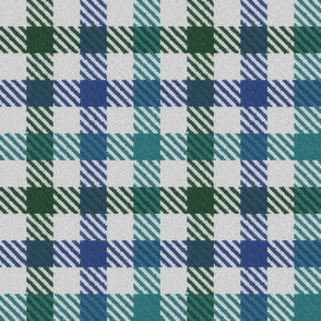 Tricolor Gingham Green Blue Teal