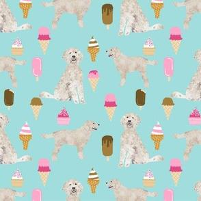 golden doodle ice cream fabric cute dog summer icecreams design