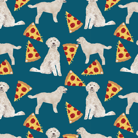 golden doodle pizza fabric best pizza design food lovers dog fabric fabric by petfriendly on Spoonflower - custom fabric