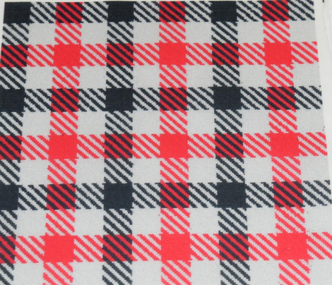Black and Red Fuzzy Look Gingham