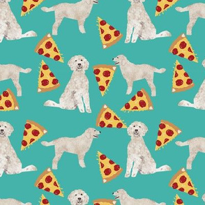 golden doodle pizza fabric best pizza design food lovers dog fabric