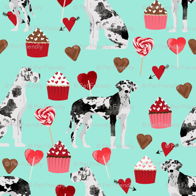 great dane valentines fabric cute black and white dog design best great danes fabric design