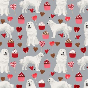 great pyrenees dog fabric cute valentines love dogs design best cupcakes and hearts fabric