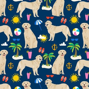 golden retriever beach fabric summer dog fabric golden retrievers fabric
