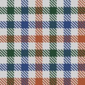 Tricolor Gingham Green Blue Orange
