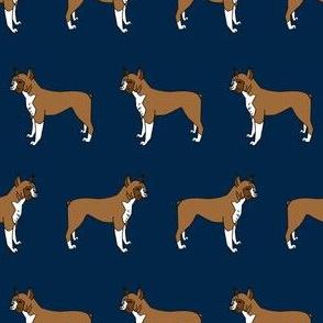 boxer // boxers dog fabric navy blue dog design andrea lauren pet fabric
