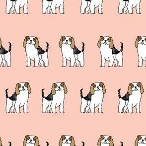cavalier king charles // spaniel dog fabric cute blush dogs fabric