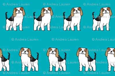 spaniel // dog fabric pet dogs design cute pets fabric