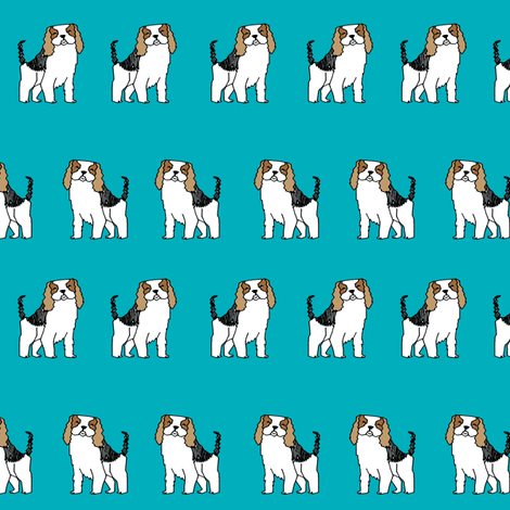 spaniel // dog fabric pet dogs design cute pets fabric fabric by andrea_lauren on Spoonflower - custom fabric