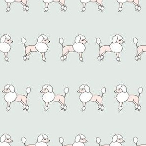 poodles // sweet pastel soft poodle fabric nursery baby design