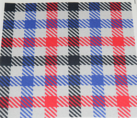 Tricolor Gingham Black Blue Red