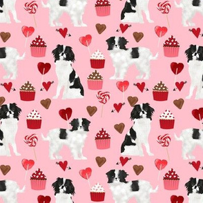 japanese chin  valentines fabric - blossom pink - valentines love design, cute valentines love fabric