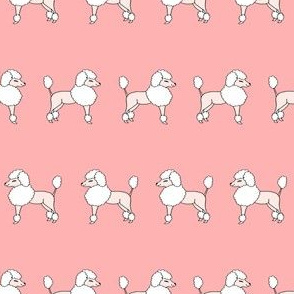 poodles // pink poodles fabric cute dogs fabric nursery baby girl design