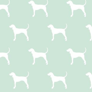 coonhound on mint || dog fabric