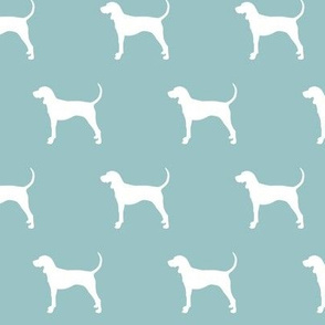 coonhound on blue echo || dog fabric