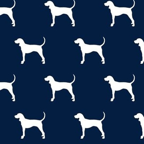 coonhound on navy || dog fabric