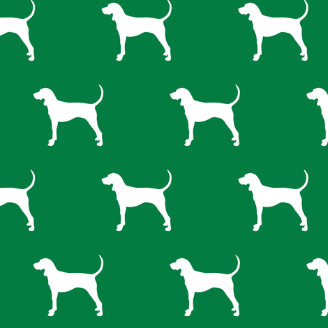 coonhound on green || dog fabric fabric by littlearrowdesign on Spoonflower - custom fabric