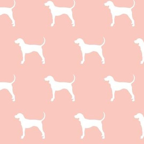 coonhound on briar woods pink || dog fabric