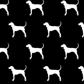 coonhound on black || dog fabric