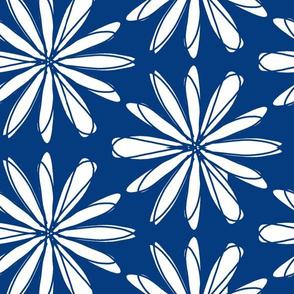 White on Blue Flower