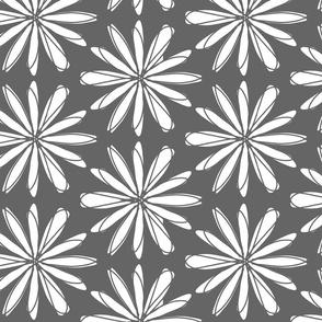 White Flower on Gray