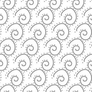 Gray Swirls on White