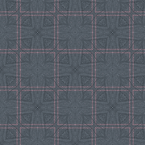Knitted Mod Windowpane by Friztin fabric by friztin on Spoonflower - custom fabric