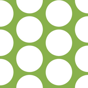 GIGANTIC White Polka Dots on Greenery by Su_G