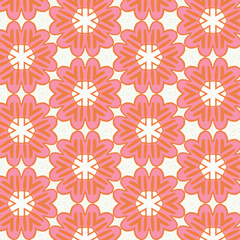 Bold Pink Blooms by Friztin fabric by friztin on Spoonflower - custom fabric