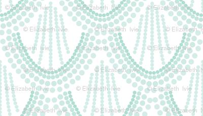 ombre mermaid scales // aqua