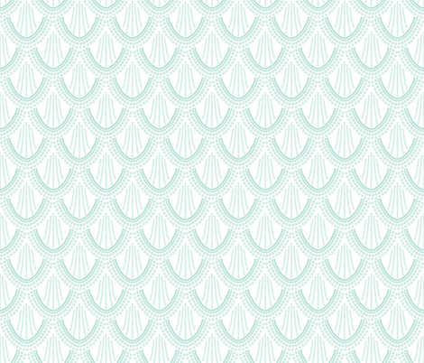 ombre mermaid scales // aqua fabric by ivieclothco on Spoonflower - custom fabric