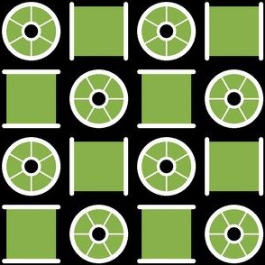 cotton reel check : green