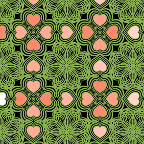 Geometric Heart 88B04B & FF896C