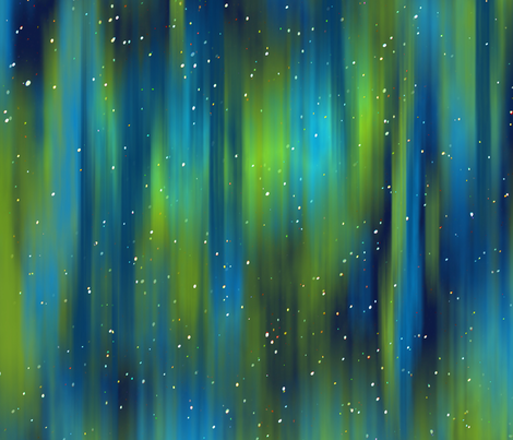 In the midst of an aurora fabric by vo_aka_virginiao on Spoonflower - custom fabric