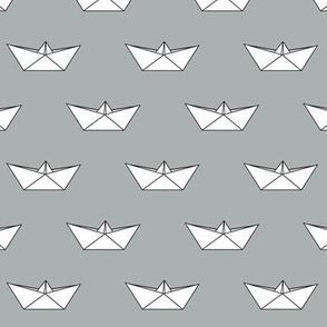 paper boat || grey