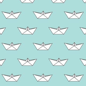 paper boat || baby blue