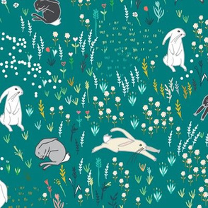 Ambrosia Bunny Field  (teal)