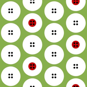 Button polka dots with some red centers by Su_G