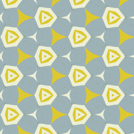 Mod retro floral by Friztin fabric by friztin on Spoonflower - custom fabric