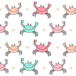 dancing crab // nautical sea life crabs cute ocean animals mermaid collection